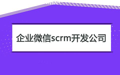企业微信scrm开发公司